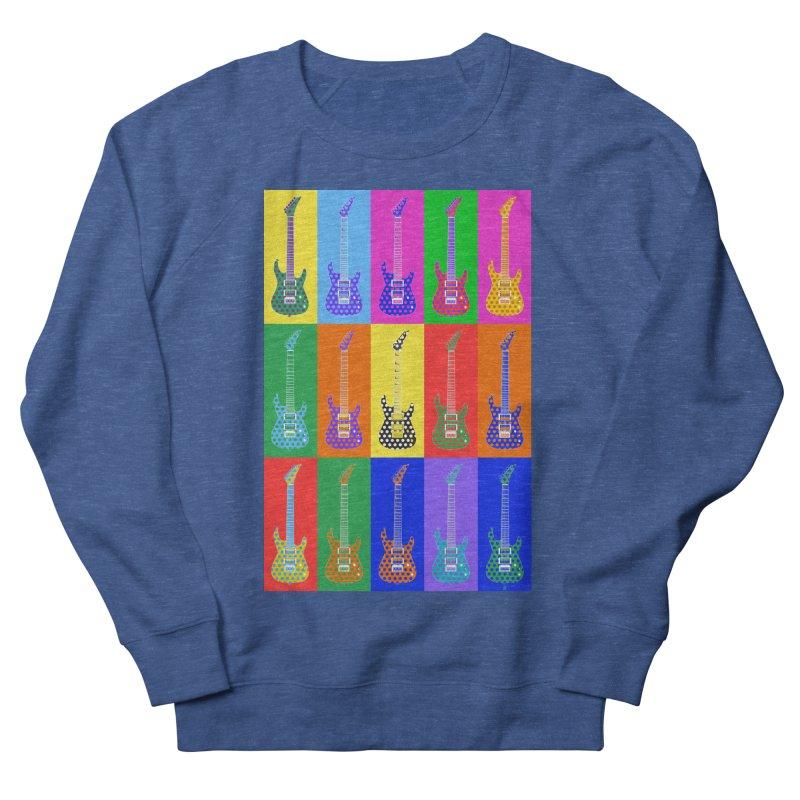 Guitar Warhol Dots Men's Sweatshirt by Armando Padilla Artist Shop