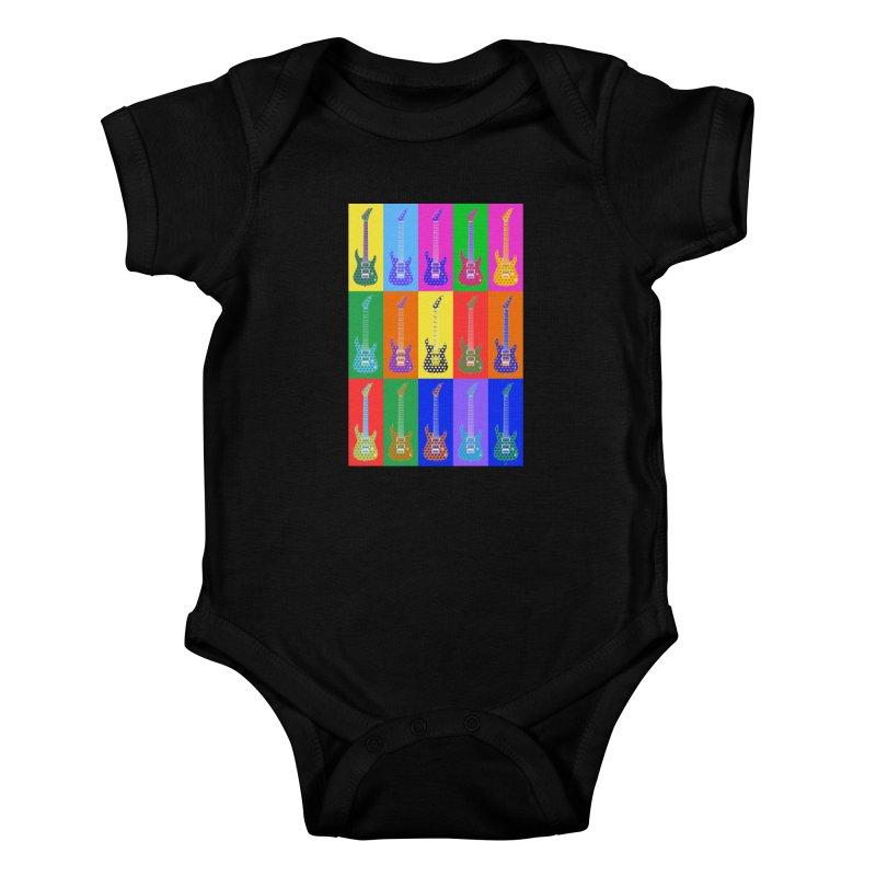 Guitar Warhol Dots Kids Baby Bodysuit by Armando Padilla Artist Shop