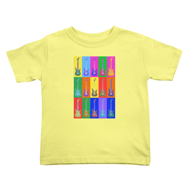 Guitar Warhol Dots Kids Toddler T-Shirt by Armando Padilla Artist Shop