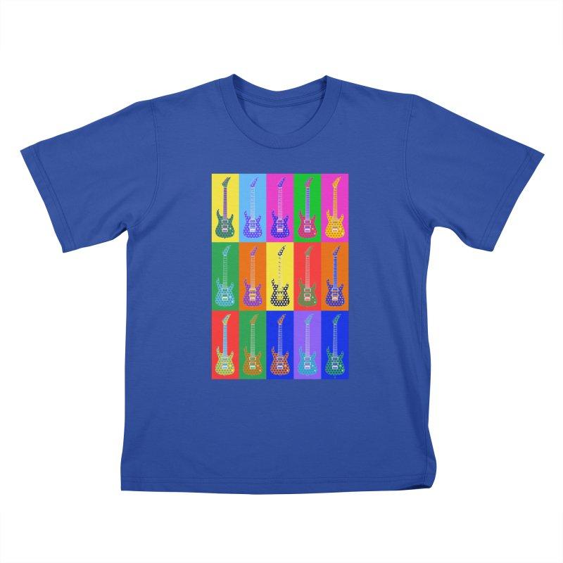 Guitar Warhol Dots Kids T-Shirt by Armando Padilla Artist Shop
