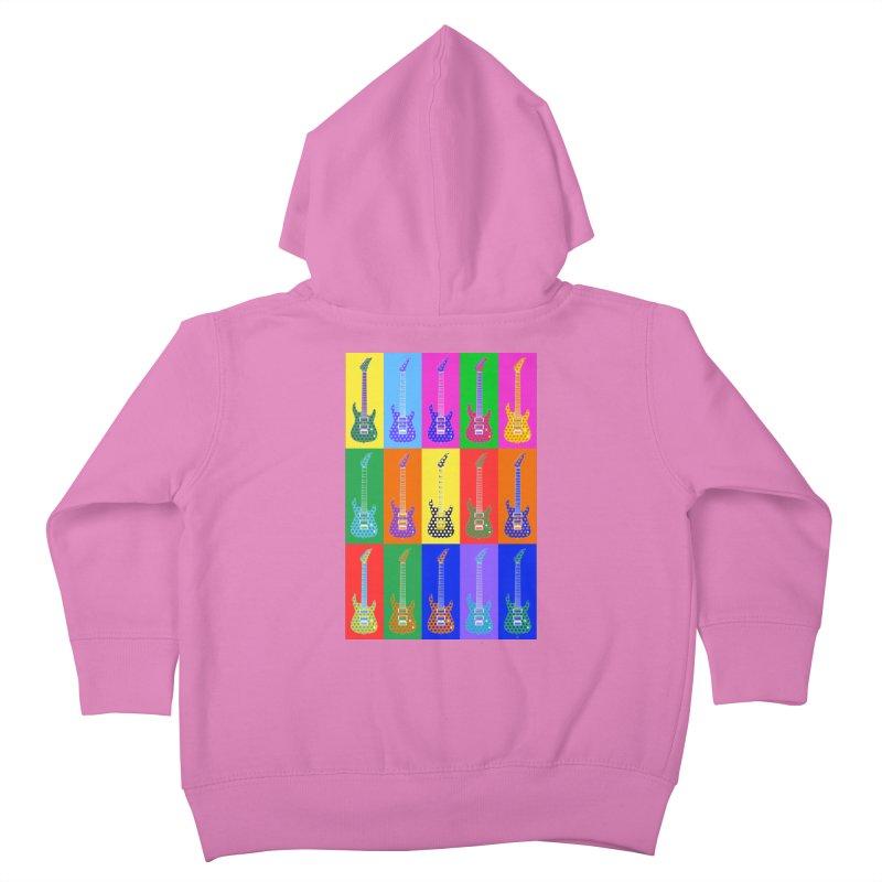 Guitar Warhol Dots Kids Toddler Zip-Up Hoody by Armando Padilla Artist Shop