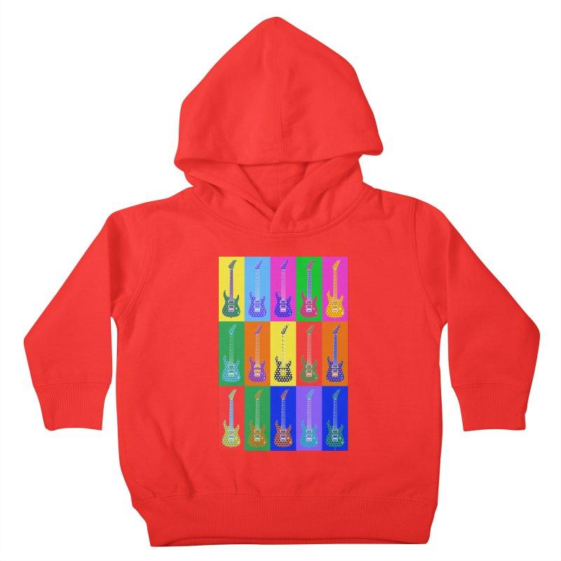 Guitar Warhol Dots Kids Toddler Pullover Hoody by Armando Padilla Artist Shop