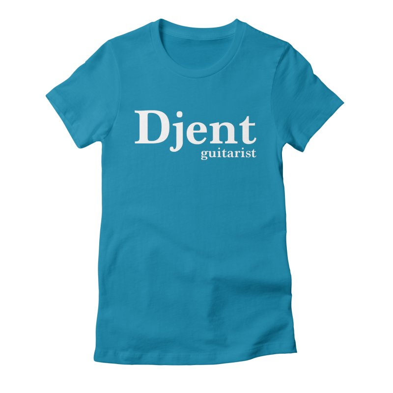 Djent Guitarist Women's Fitted T-Shirt by Armando Padilla Artist Shop