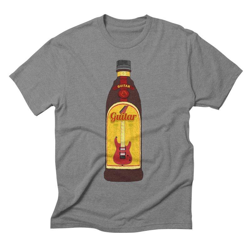 Guitar Bottle Men's T-Shirt by Armando Padilla Artist Shop