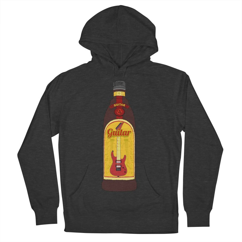 Guitar Bottle Women's French Terry Pullover Hoody by Armando Padilla Artist Shop