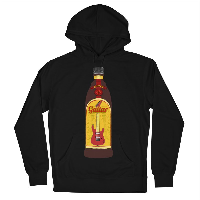 Guitar Bottle Men's French Terry Pullover Hoody by Armando Padilla Artist Shop