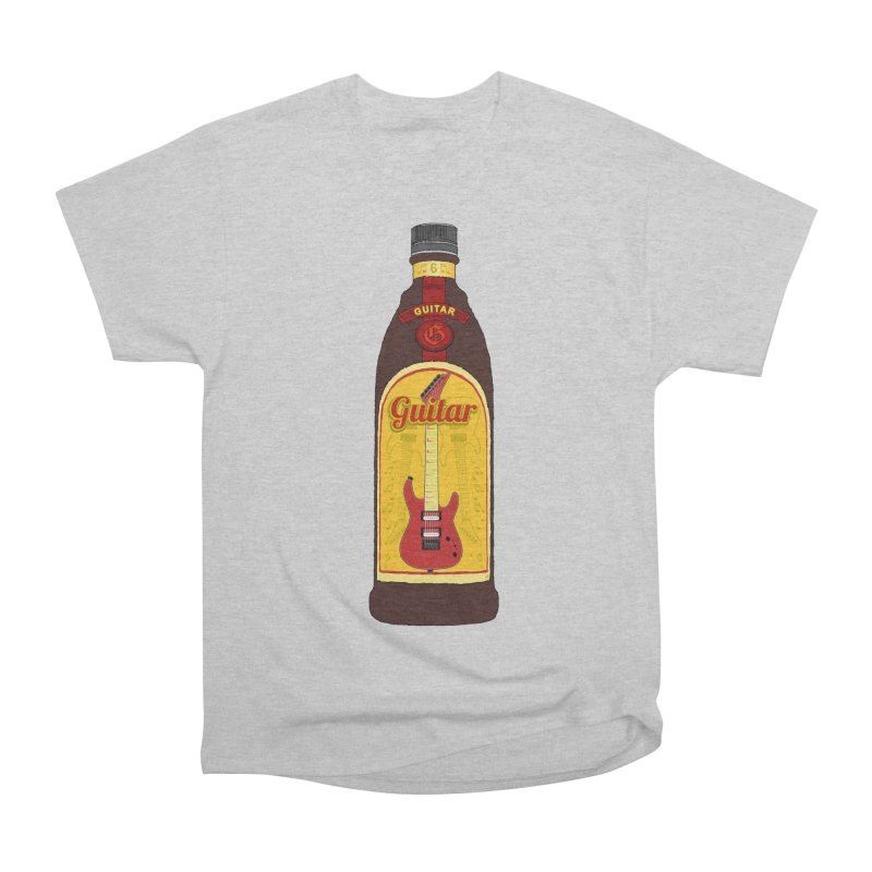 Guitar Bottle Men's Heavyweight T-Shirt by Armando Padilla Artist Shop
