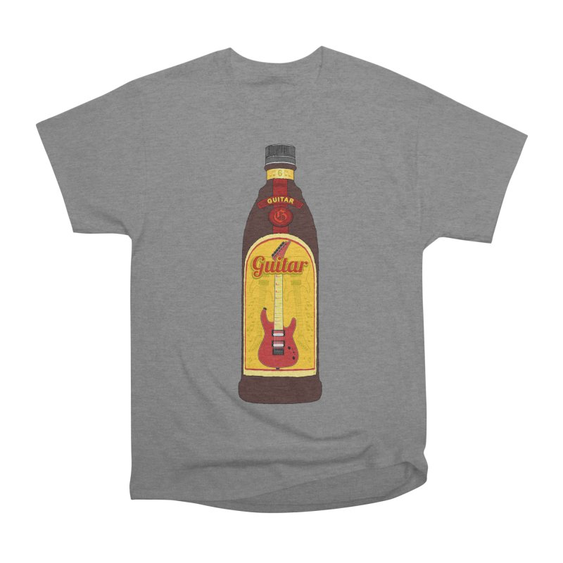 Guitar Bottle Men's Heavyweight T-Shirt by Armando Padilla Artist Shop