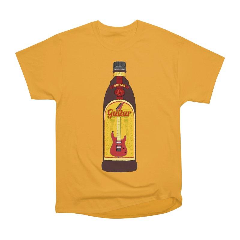 Guitar Bottle Women's Heavyweight Unisex T-Shirt by Armando Padilla Artist Shop