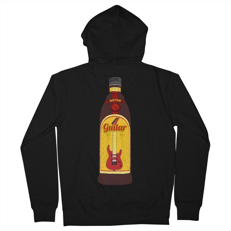 Guitar Bottle Men's Zip-Up Hoody by Armando Padilla Artist Shop