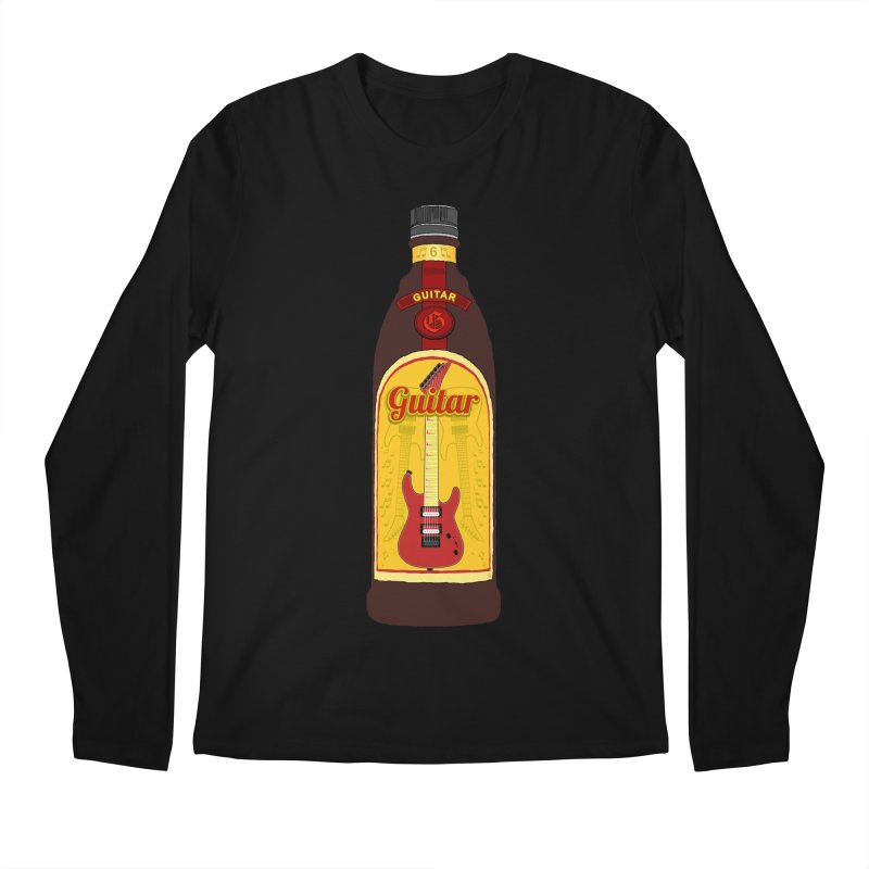Guitar Bottle Men's Regular Longsleeve T-Shirt by Armando Padilla Artist Shop