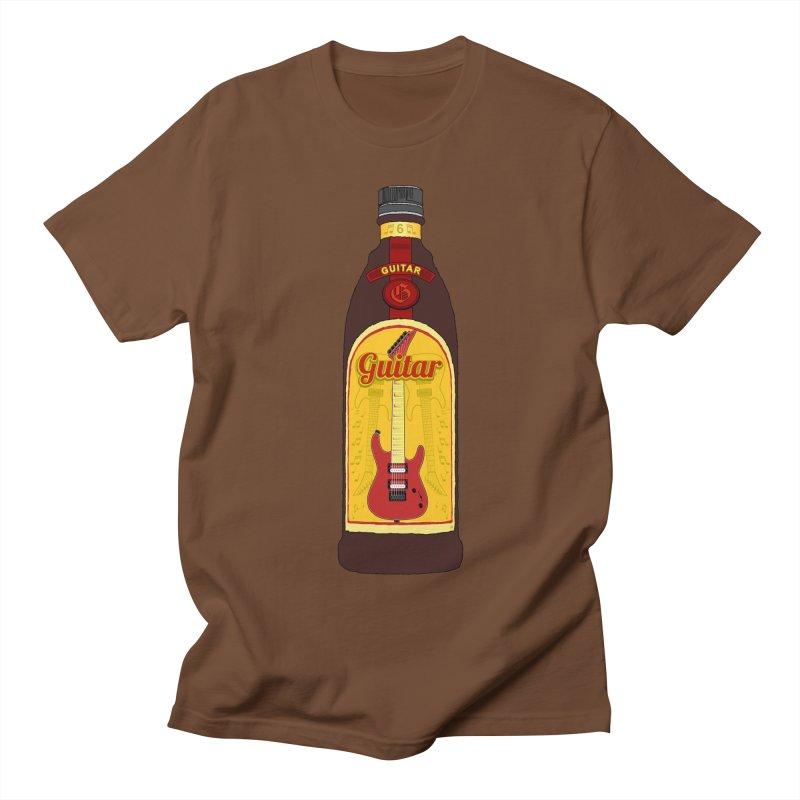 Guitar Bottle Men's Regular T-Shirt by Armando Padilla Artist Shop