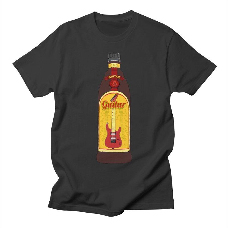 Guitar Bottle Women's Regular Unisex T-Shirt by Armando Padilla Artist Shop