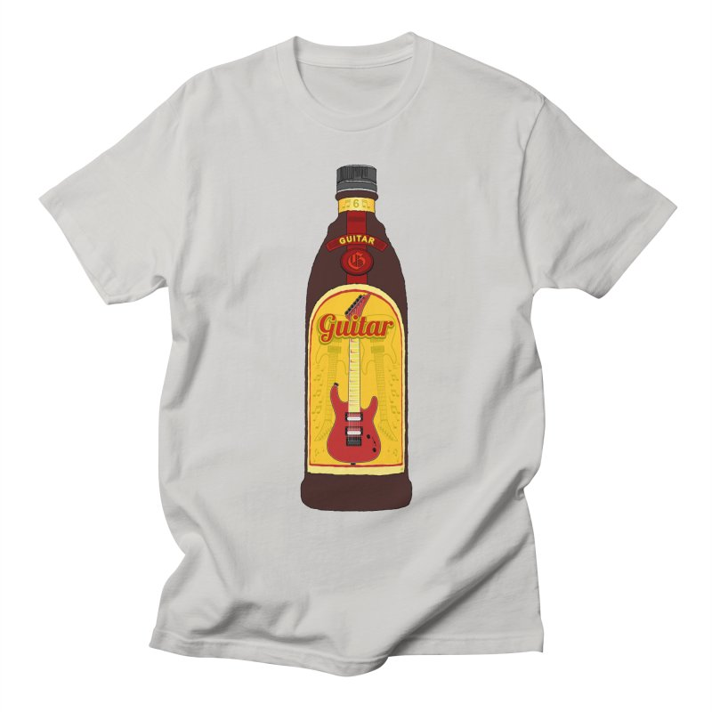 Guitar Bottle Men's Regular T-Shirt by Armando Padilla Artist Shop