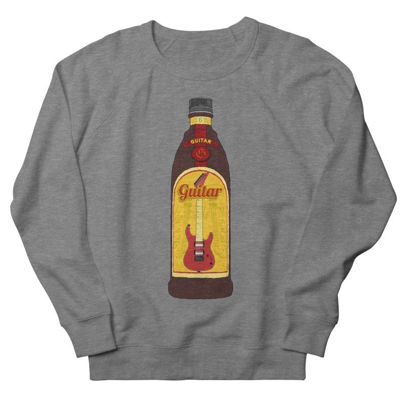 Guitar Bottle Women's French Terry Sweatshirt by Armando Padilla Artist Shop