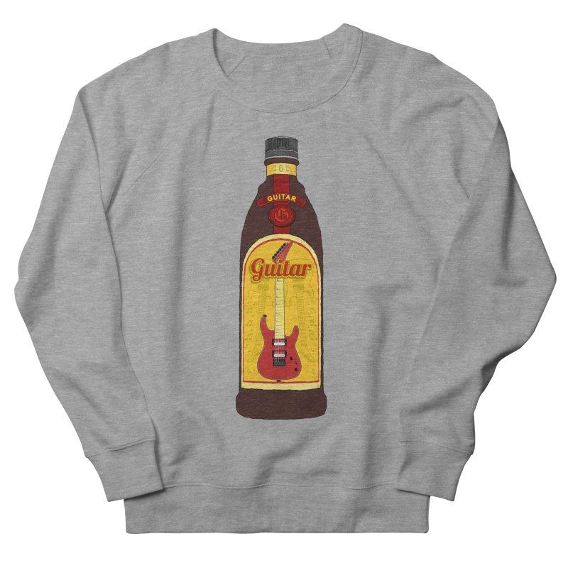 Guitar Bottle Men's French Terry Sweatshirt by Armando Padilla Artist Shop