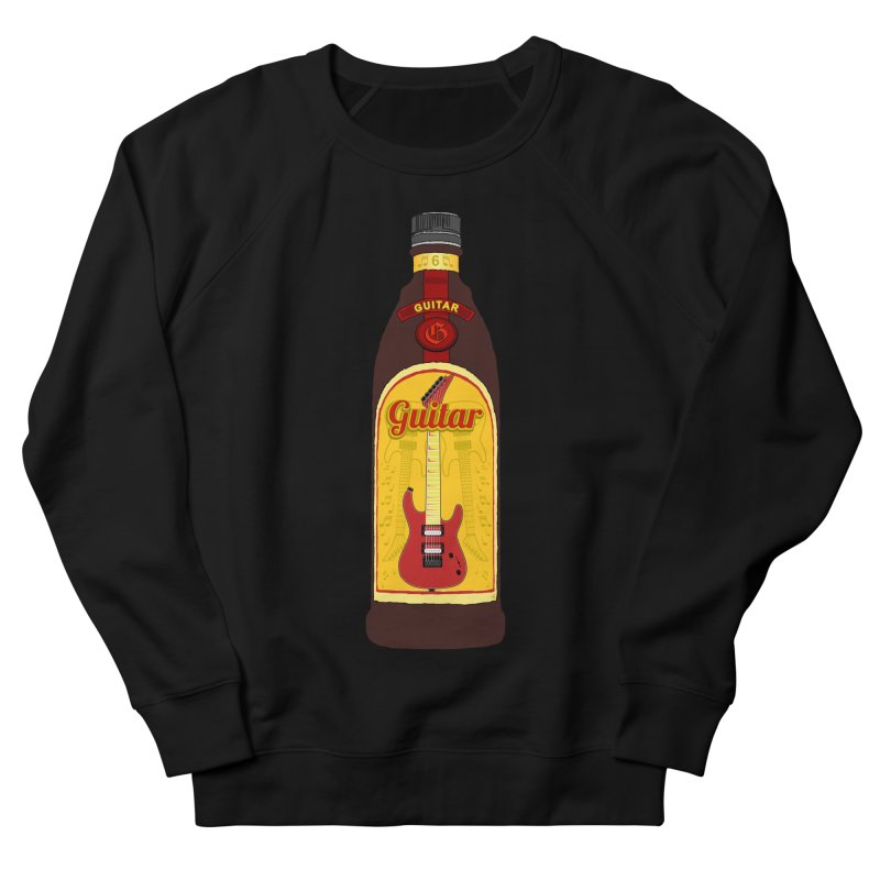 Guitar Bottle Men's French Terry Sweatshirt by Armando Padilla Artist Shop