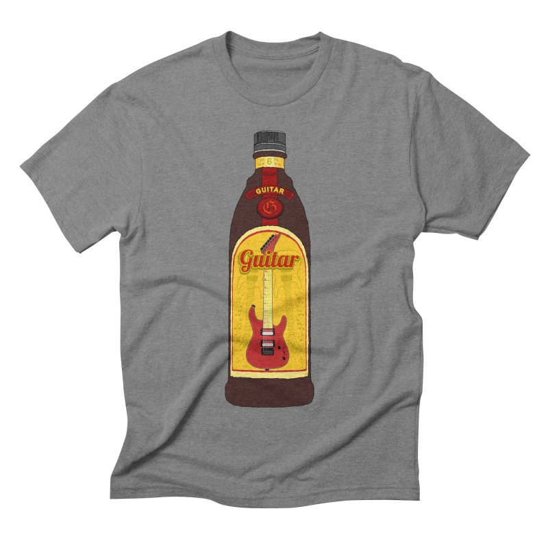Guitar Bottle Men's Triblend T-Shirt by Armando Padilla Artist Shop