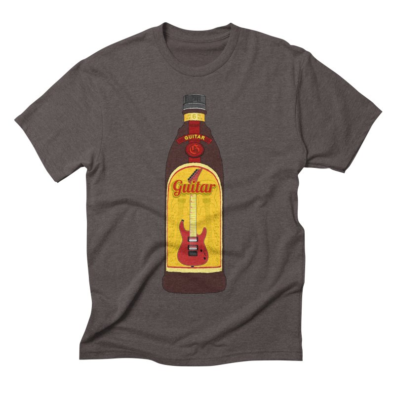 Guitar Bottle Men's Triblend T-Shirt by Armando Padilla Artist Shop