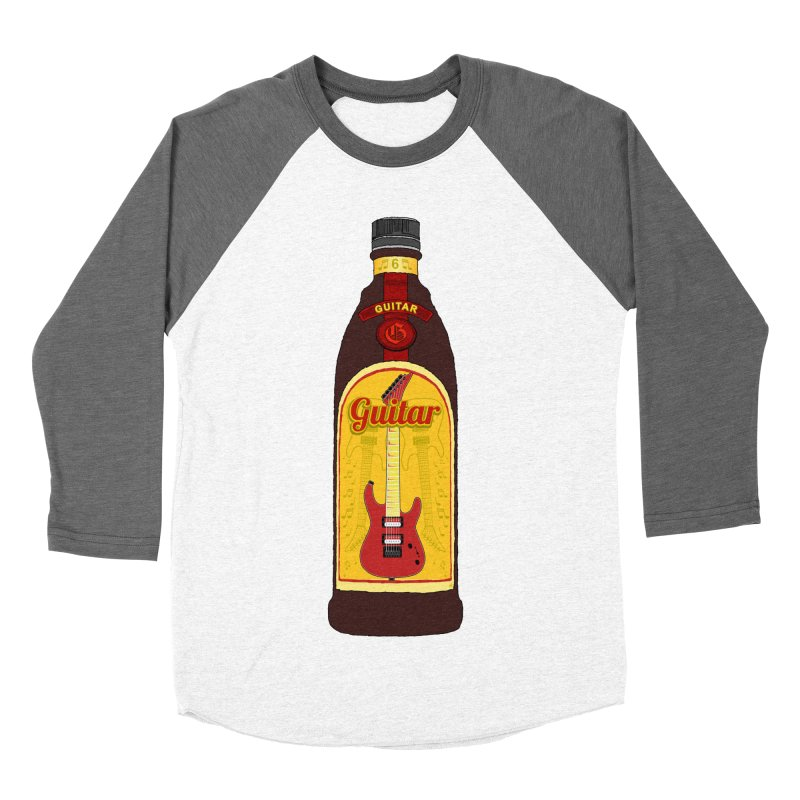 Guitar Bottle Women's Baseball Triblend Longsleeve T-Shirt by Armando Padilla Artist Shop