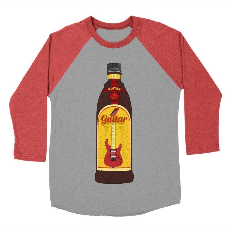 Guitar Bottle Women's Baseball Triblend Longsleeve T-Shirt by Armando Padilla Artist Shop