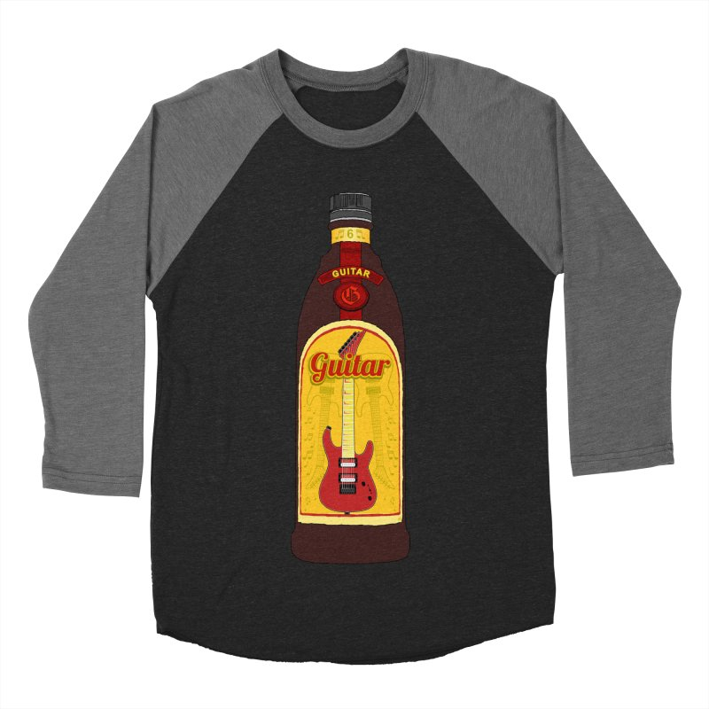 Guitar Bottle Men's Baseball Triblend Longsleeve T-Shirt by Armando Padilla Artist Shop