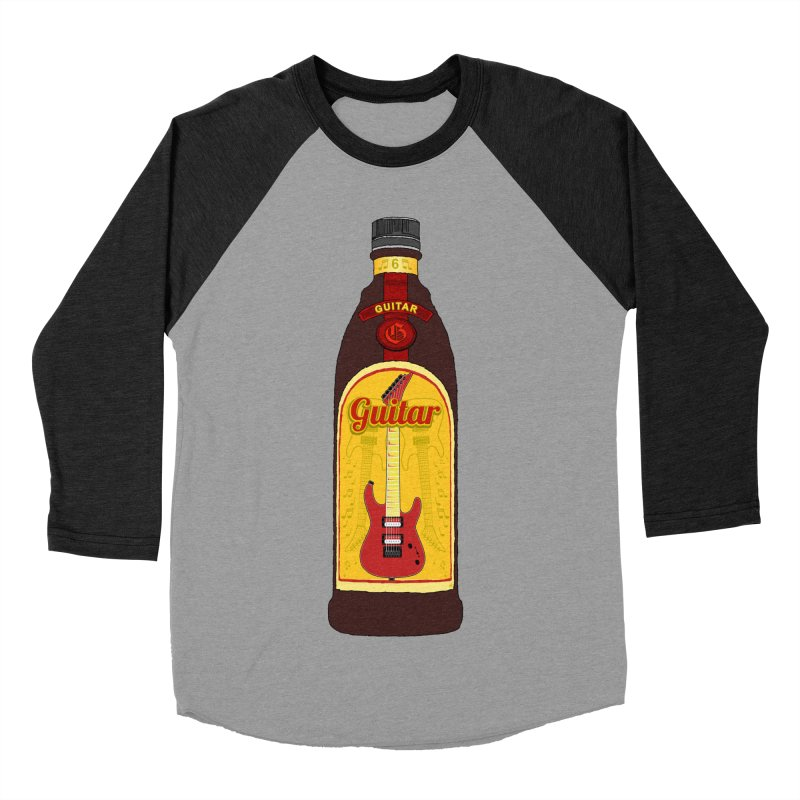 Guitar Bottle Men's Baseball Triblend Longsleeve T-Shirt by Armando Padilla Artist Shop