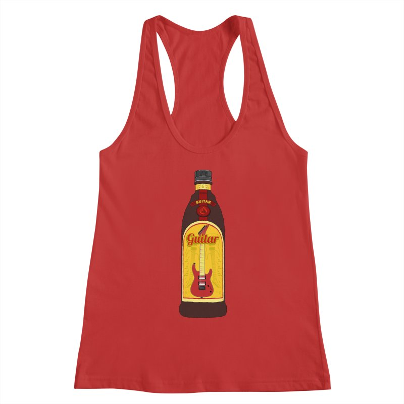 Guitar Bottle Women's Racerback Tank by Armando Padilla Artist Shop
