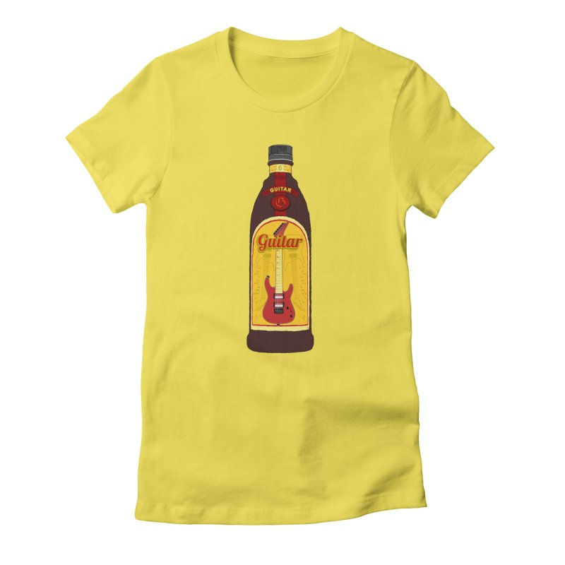 Guitar Bottle Women's T-Shirt by Armando Padilla Artist Shop