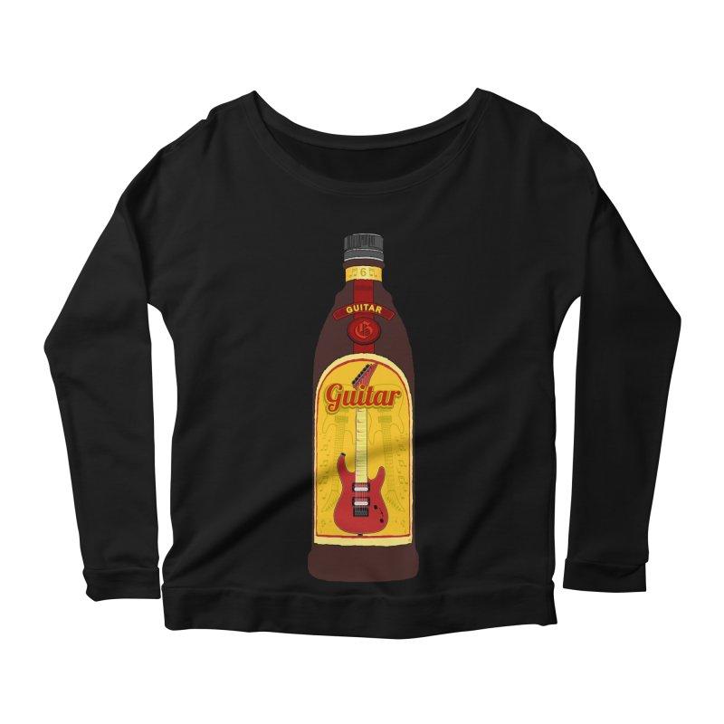 Guitar Bottle Women's Scoop Neck Longsleeve T-Shirt by Armando Padilla Artist Shop