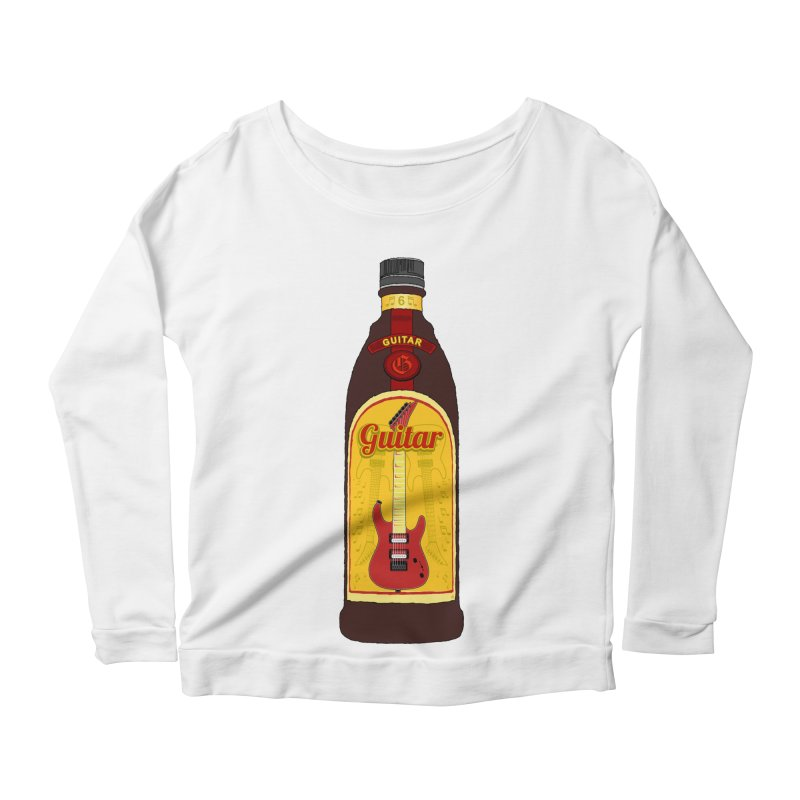 Guitar Bottle Women's Scoop Neck Longsleeve T-Shirt by Armando Padilla Artist Shop