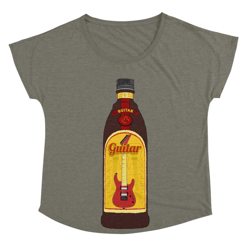 Guitar Bottle Women's Dolman Scoop Neck by Armando Padilla Artist Shop