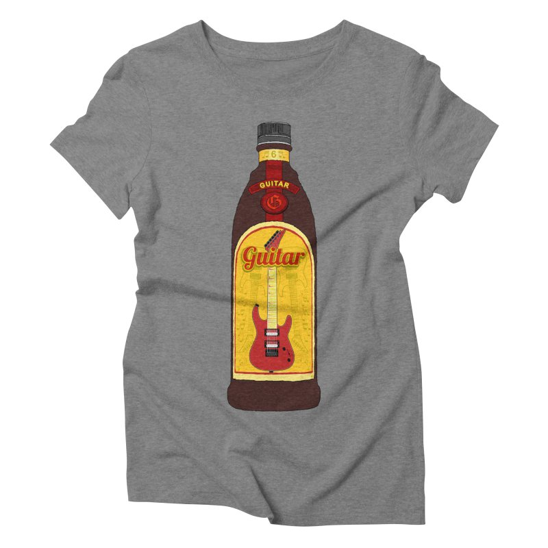 Guitar Bottle Women's Triblend T-Shirt by Armando Padilla Artist Shop