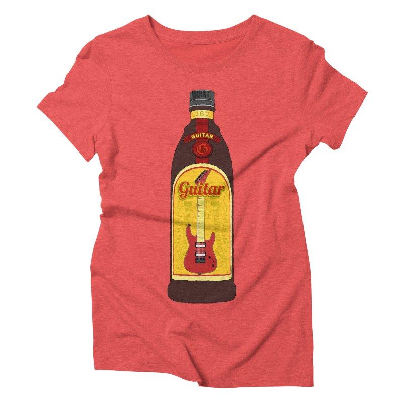 Guitar Bottle Women's Triblend T-Shirt by Armando Padilla Artist Shop