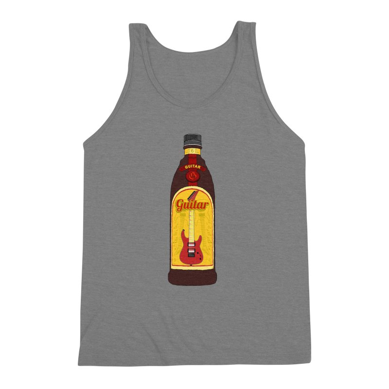 Guitar Bottle Men's Triblend Tank by Armando Padilla Artist Shop