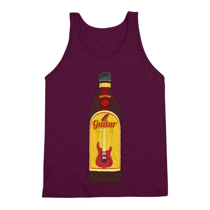 Guitar Bottle Men's Triblend Tank by Armando Padilla Artist Shop