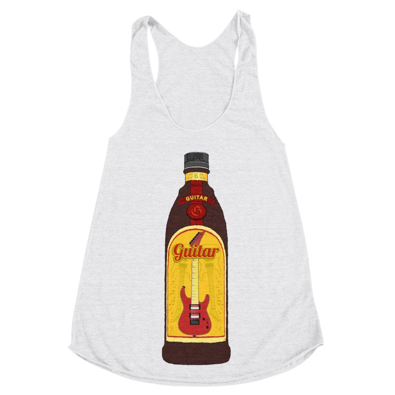 Guitar Bottle Women's Racerback Triblend Tank by Armando Padilla Artist Shop