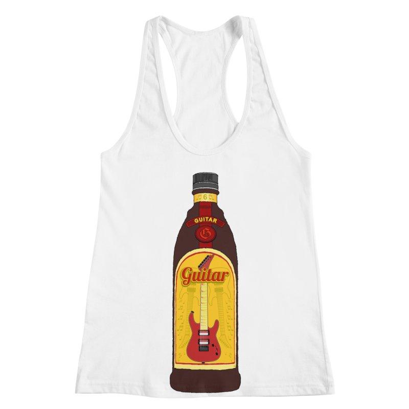 Guitar Bottle Women's Racerback Tank by Armando Padilla Artist Shop
