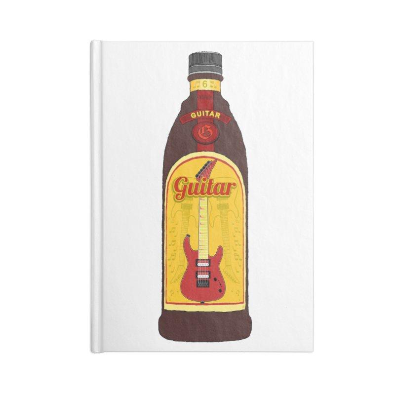 Guitar Bottle Accessories Notebook by Armando Padilla Artist Shop