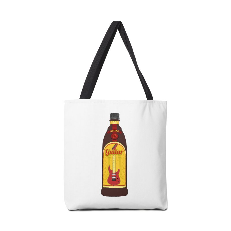 Guitar Bottle Accessories Tote Bag Bag by Armando Padilla Artist Shop