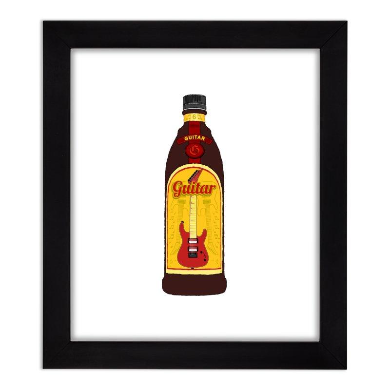 Guitar Bottle Home Framed Fine Art Print by Armando Padilla Artist Shop