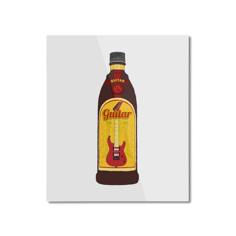 Guitar Bottle Home Mounted Aluminum Print by Armando Padilla Artist Shop