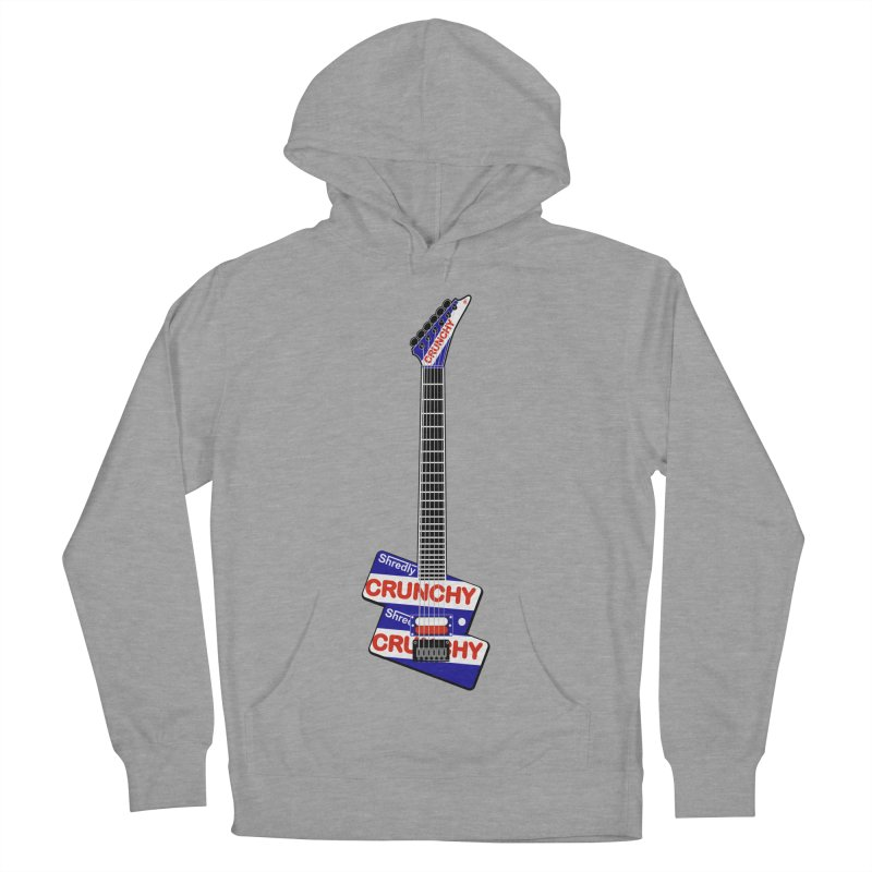 Crunchy Guitar Men's French Terry Pullover Hoody by Armando Padilla Artist Shop