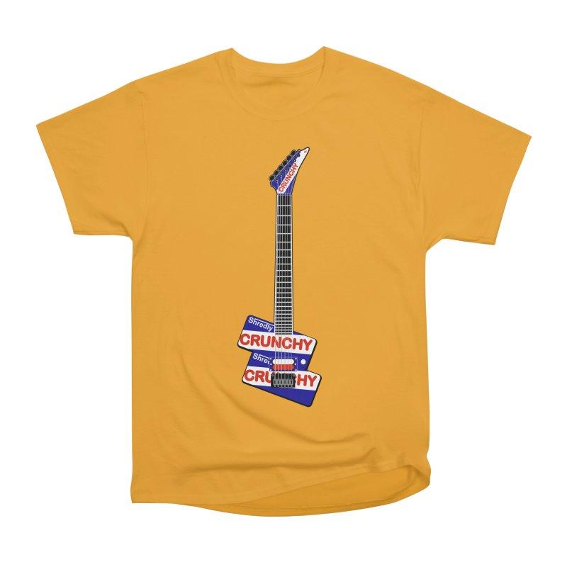 Crunchy Guitar Men's Heavyweight T-Shirt by Armando Padilla Artist Shop