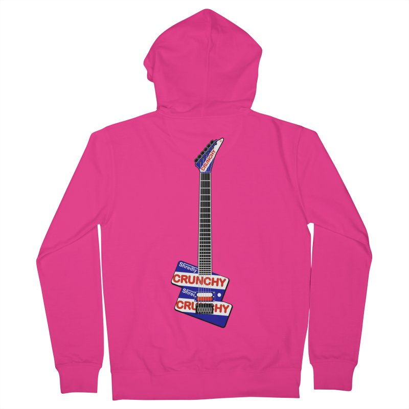 Crunchy Guitar Men's French Terry Zip-Up Hoody by Armando Padilla Artist Shop