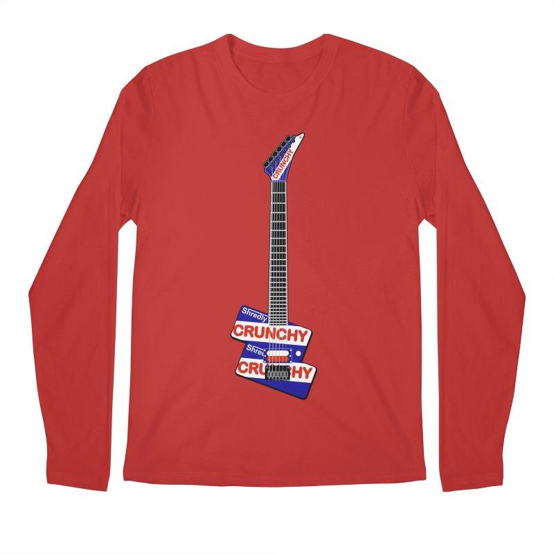 Crunchy Guitar Men's Regular Longsleeve T-Shirt by Armando Padilla Artist Shop