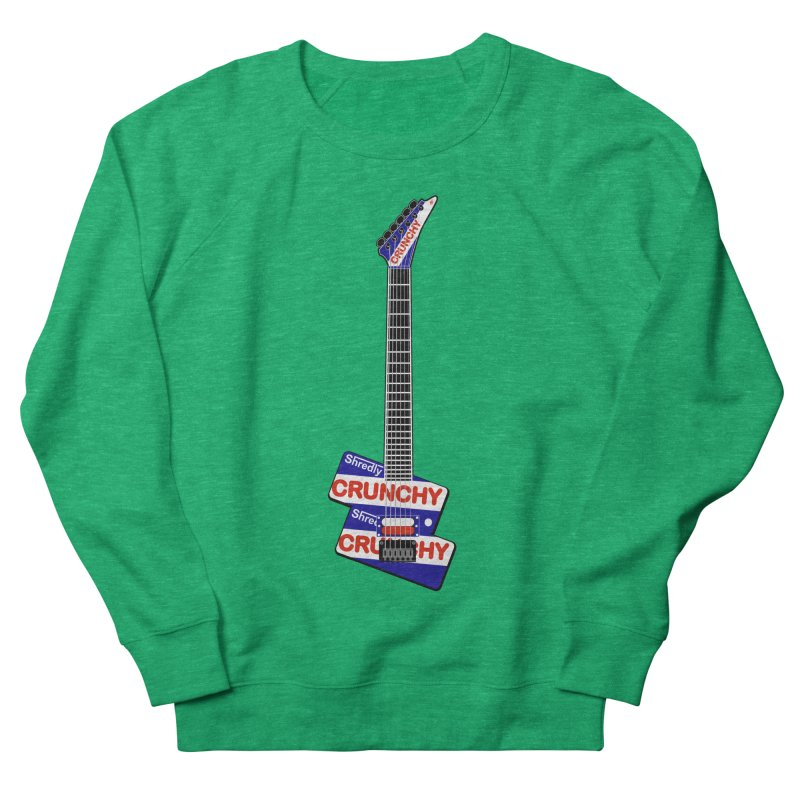 Crunchy Guitar Men's French Terry Sweatshirt by Armando Padilla Artist Shop