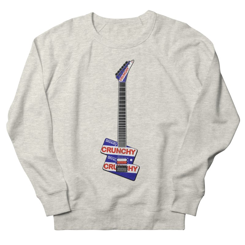 Crunchy Guitar Men's French Terry Sweatshirt by Armando Padilla Artist Shop