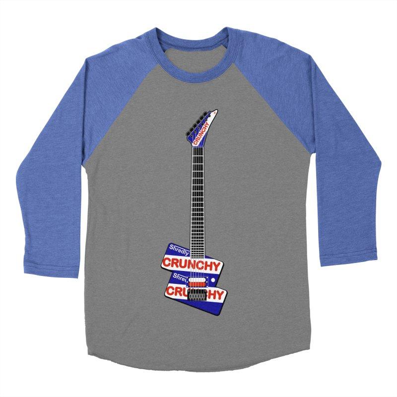 Crunchy Guitar Men's Baseball Triblend Longsleeve T-Shirt by Armando Padilla Artist Shop
