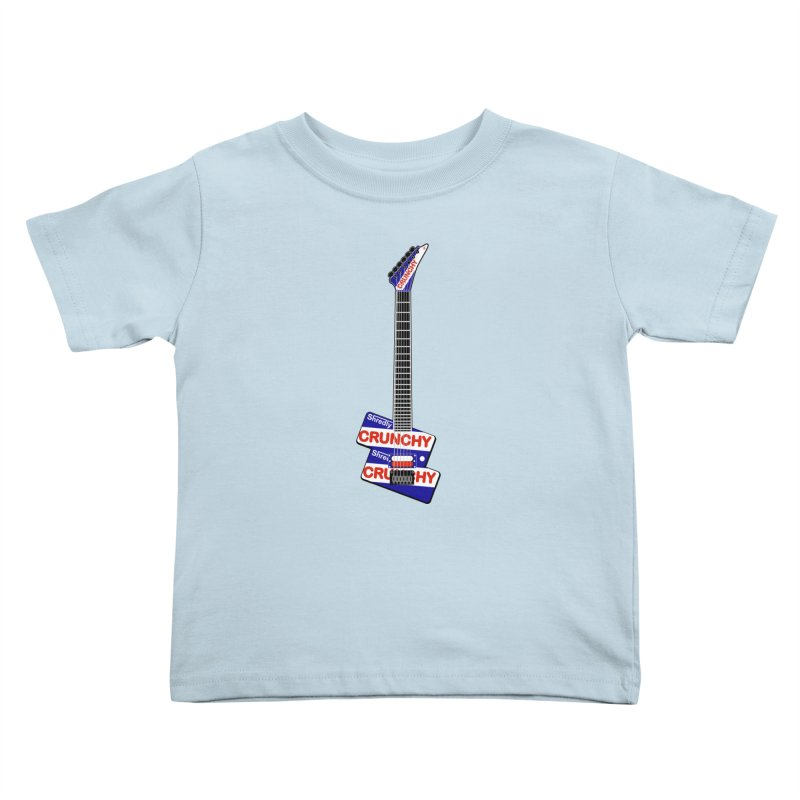 Crunchy Guitar Kids Toddler T-Shirt by Armando Padilla Artist Shop